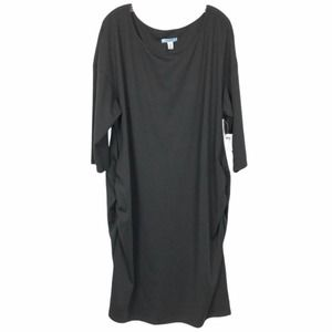 Old Navy Black Ruched Maternity Dress
